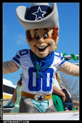 Dallas Cowboys mascot 'Rowdy' (©2013 Jeff Burkett Photography. All Rights Reserved. This material may not be published, broadcast, rewritten, or redistributed.)